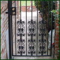 Wrought Iron Driveway gate, Sutter Creek